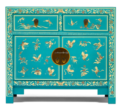 Decorated Blue Sideboard